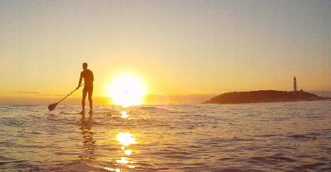 Practicar Paddel surf en Cadiz