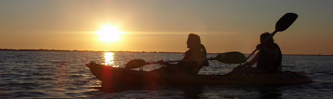 Un dia en Kayak por la Bahia de Cadiz