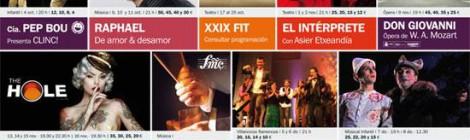Programacion Teatro Falla 2014: Raphael, Luz Casal o The Hole