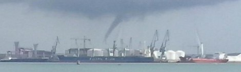 Tornado en la bahia de Cádiz, septiembre 2014