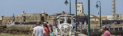 Visitas al Castillo de San Sebastian en tren turistico 2014, Cadiz