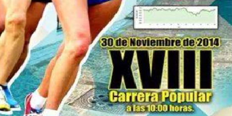 XVIII Carrera Popular Vejer de la Frontera 2014: Inscripcion, Precio y Categorias