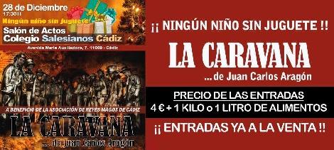 """Actuación de """"La Caravana"""". Juan Carlos Aragón vuelve a Cádiz"""
