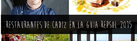 Restaurantes de Cádiz en Guia Repsol 2015