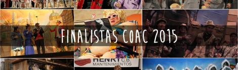 Finalistas COAC 2015: Chirigotas, Comparsas, Cuarteros y Coros en la Final del Falla