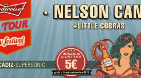 Concierto Budweiser Low Festival On tour 2015 Cadiz: Nelson Can y Little Cobras