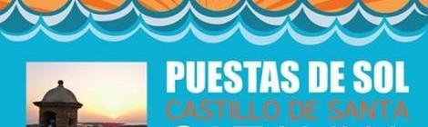 Puestas de sol Castillo Santa Catalina 2015 Cádiz: Programación