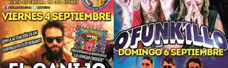 Concierto El Canijo de Jerez, O'funk'illo y Abraham Sevilla en el chiringuito Pez Limón