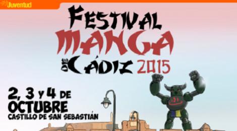 Festival Manga de Cádiz 2015 en el Castillo de San Sebastián: Fecha y Programación