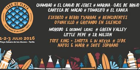 Festival Cabo de Plata de Zahara de los Atunes 2016: Fecha, Artistas y Entradas