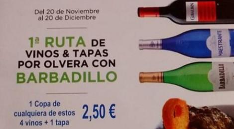 I Ruta de Vinos y Tapas por Olvera 2015