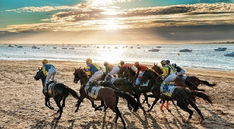 Carreras de caballos playa de Sanlúcar de Barrameda 2017