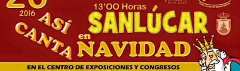 Así canta Sanlúcar en Navidad 2016