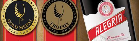 Manzanilla 'Alegría' Medalla de Oro del New Zealand International Wine Show 2016