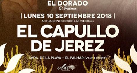 Concierto El Capullo de Jerez en El Palmar, Chiringuito El Dorado 2018