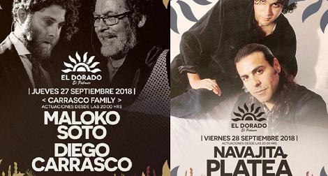 Conciertos Cierre de temporada Chiringuito EL Dorado en El Palmar 2018